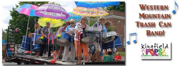 Western Mountain Trash Can Band to open the 2013 Kingfield POPS